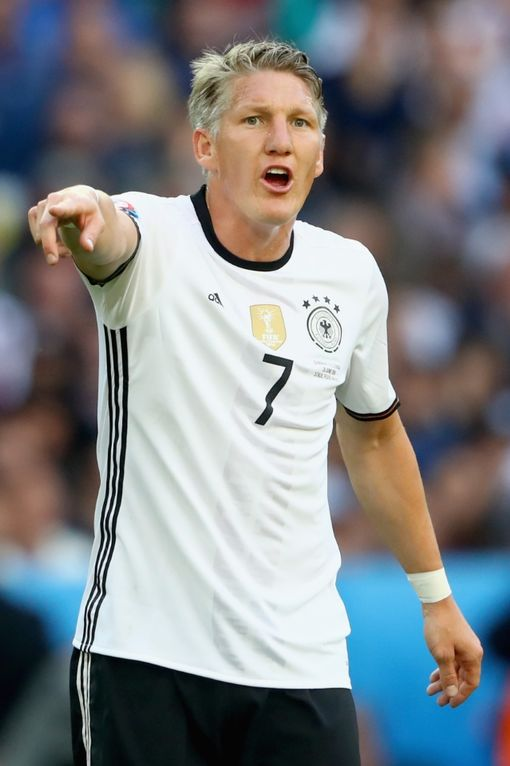 LILLE, FRANCE - JUNE 26: Bastian Schweinsteiger of Germany reacts during the UEFA EURO 2016 round of 16 match between Germany and Slovakia at Stade Pierre-Mauroy on June 26, 2016 in Lille, France. (Photo by Alexander Hassenstein/Getty Images)