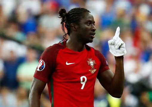 Eder celebrates after scoring the first goal