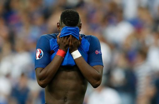 Paul Pogba reacts after the game