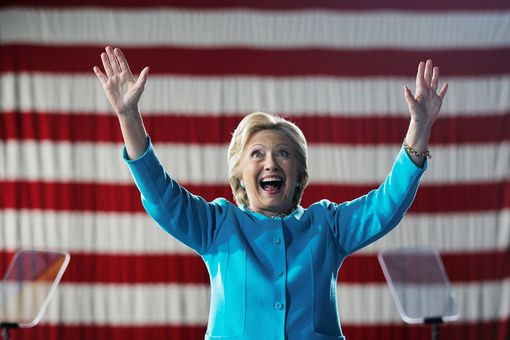 U.S. Democratic presidential nominee Hillary Clinton