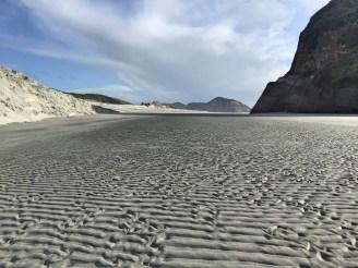 Wind meets sand, Wharariki, South Island