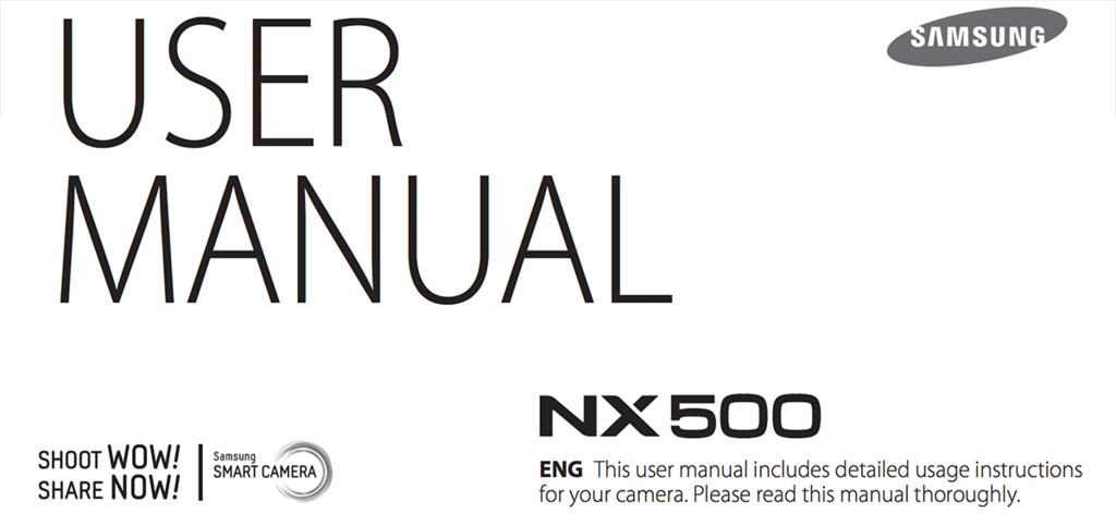 NX500 manual is available for download. And camera will
