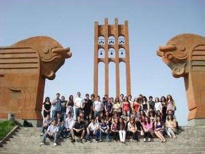 Manoogian-Demirdjian School students tour the grounds of Sardarabad.