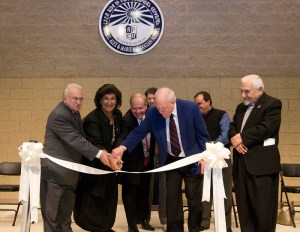 Board of Directors Chairman and Vice Chairman Dr. Richard Marburger and Edmond Azadian, respectively, together with both principals, cut the ceremonial ribbon.