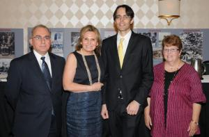 From left, Dr. Rouben Adalian, Marta Batmasian, Hannibal Travis, Dr. Rosanna Gatens
