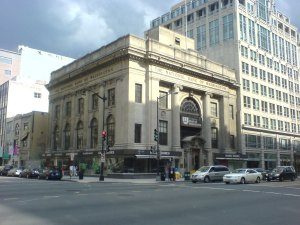 The former National Bank building which was to be turned into the Armenian Genocide Museum