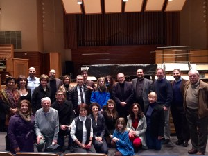 Composer Loris Ohannes Chobanian and some of the Armenian-Americans from the Cleveland area who attended the Der Voghormia concert.