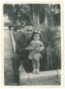 Karnig Panian and his daughter, Houry