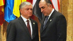 Armenian and Azeri foreign ministers meet in New York.