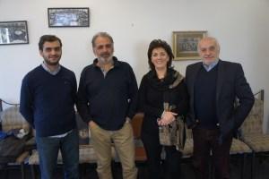 From left, Hayk Documentary Film Studio filmmakers Armen Harutyunyan, Samvel Papasyan, Shushanik Mirzakhanyan and Grigor Harutyunyan