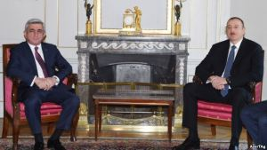 President Serge Sargisian and President Ilham Aliyev