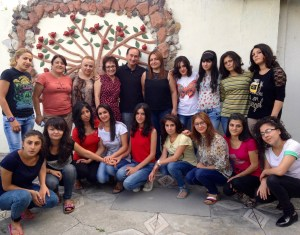 Chris Bohjalian with the staff and young women of Mer Doon