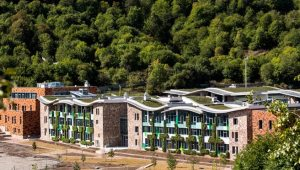 The UWC Dilijan School is nestled in a scenic setting.