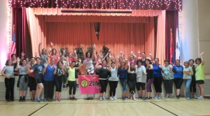 Fun and fundraising with Zumba