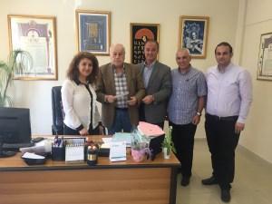 From left School Director Galina Najarian; Eddy Bahadrian, member of Tekeyan Founders Body; Dr. Hovig Vartanian, chairman of Vahan Tekeyan School Board of Trustees; Nar Khatchadourian, member of Tekeyan Founders Body and Mike Vayedjian, ADL Lebanon chairman