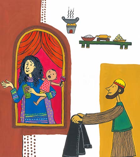 Illustration by Proiti Roy from 'Ismat's Eid' written by Fawzia Gilani-Williams (Tulika Books)