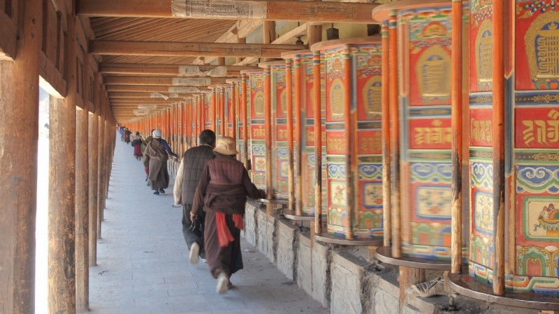 PB216180 Labrang, Xiahe, Buddish, monasterio, monastery, Tibet, China