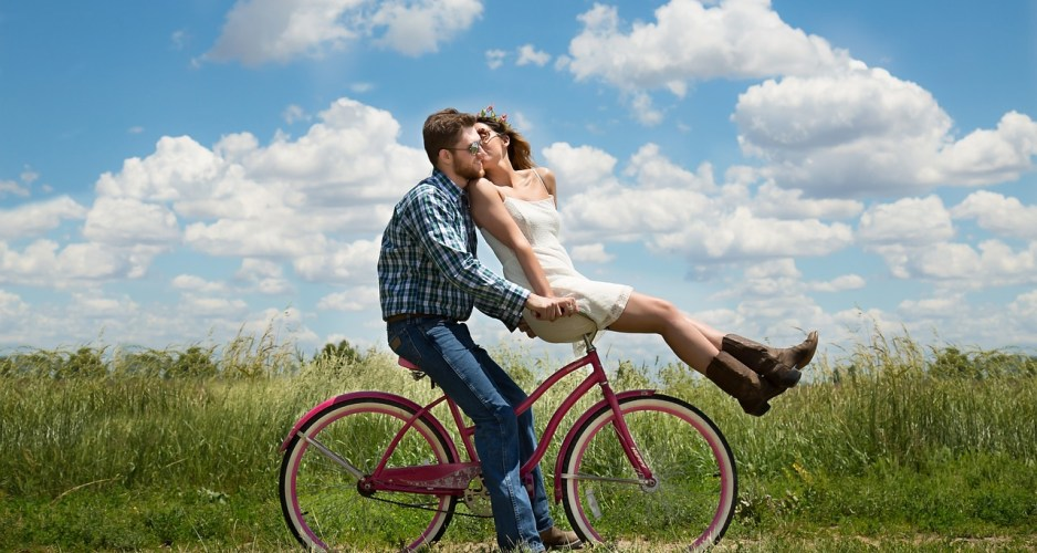 bike couple outdoors