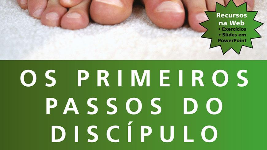 Chamada do livro Os primeiros passos do discípulo na MN Store
