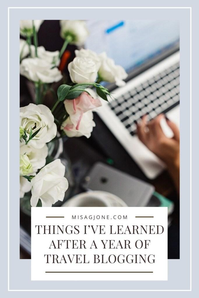 Travel blogging tips PIN