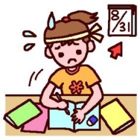「夏休みの宿題 イラストフリー 」の画像検索結果