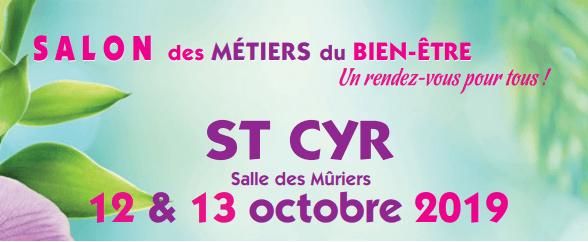 Affiche du salon bien être de saint-cyr-les-annonay qui aura lieu les 12 et 13 octobre 2019