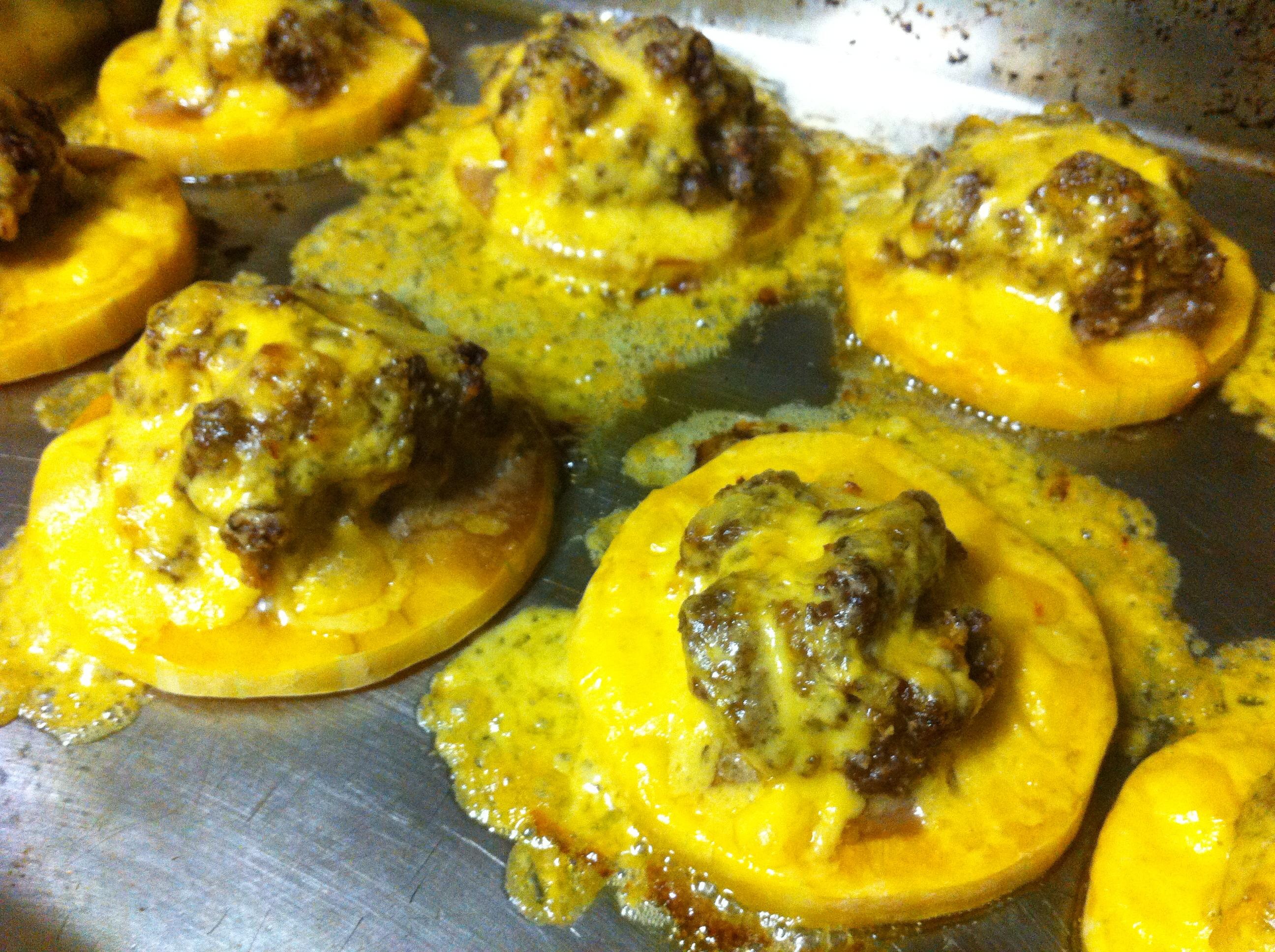 Fysh's mini cheesy butternut pizza's