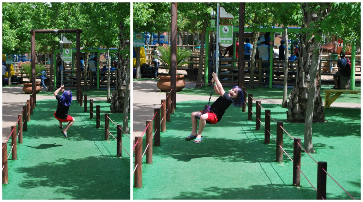 ziplining bugz play park