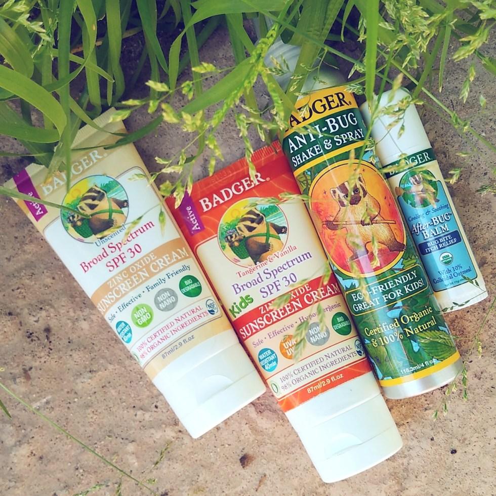 Badger sunscreens