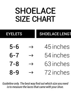 Boot laces size chart also  miscly rh