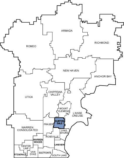 Michigan School District Map