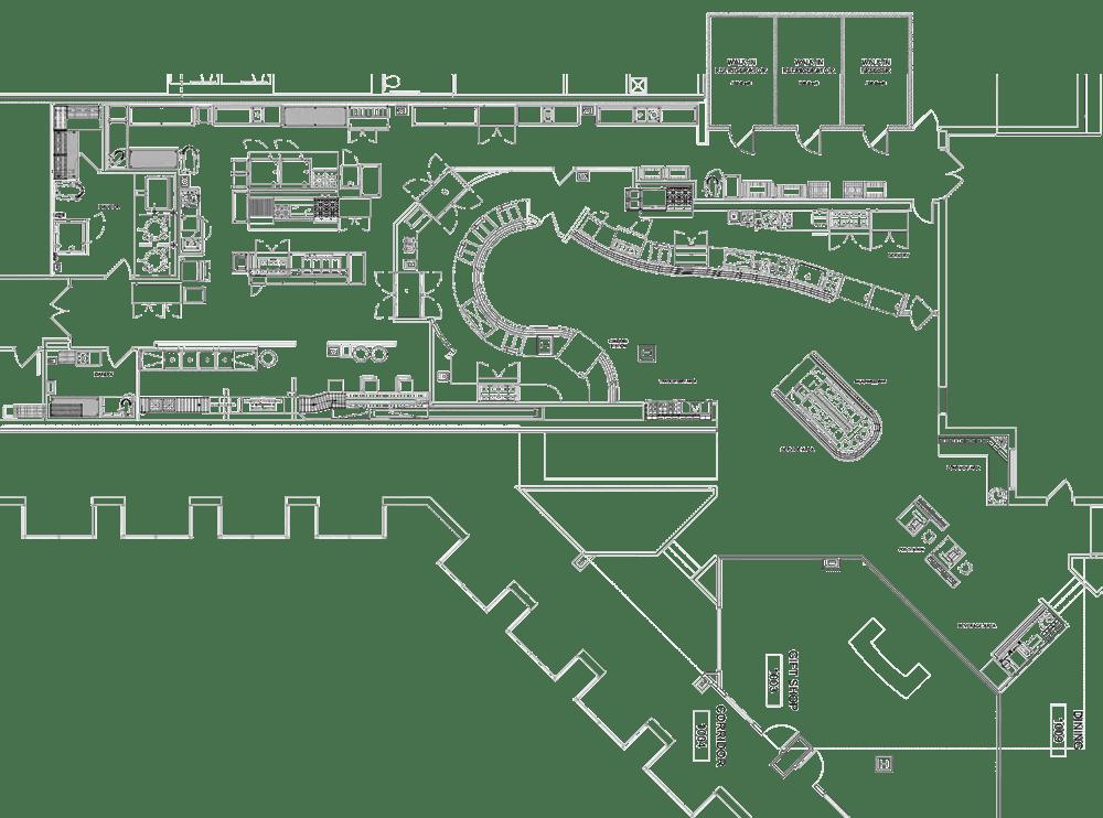 CTCA Hospital Project commercial kitchen design floorplan