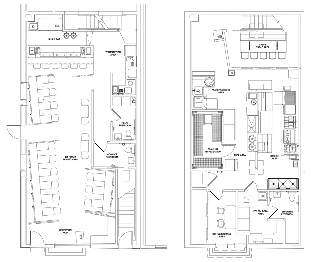 Moc Moc Restaurant Project restaurant kitchen design floorplan