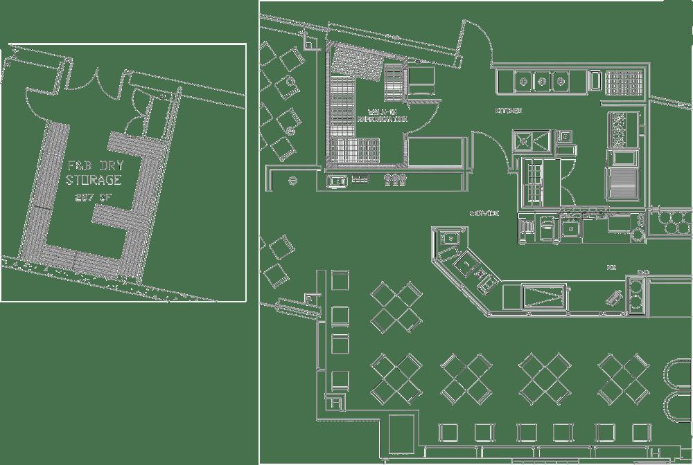 Newtown Athletic Club Project restaurant kitchen design floorplan