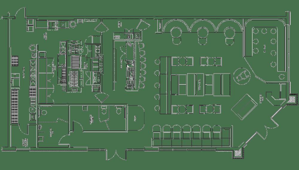 Sassafras Lounge Project restaurant kitchen design floorplan