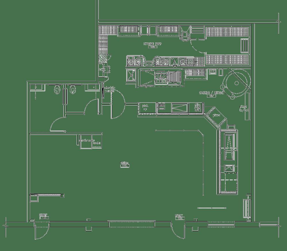 Urban Fire Pizza Project restaurant kitchen design floorplan