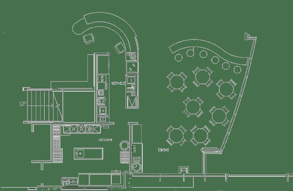 Wesley Chapel Health Club Project restaurant kitchen design floorplan