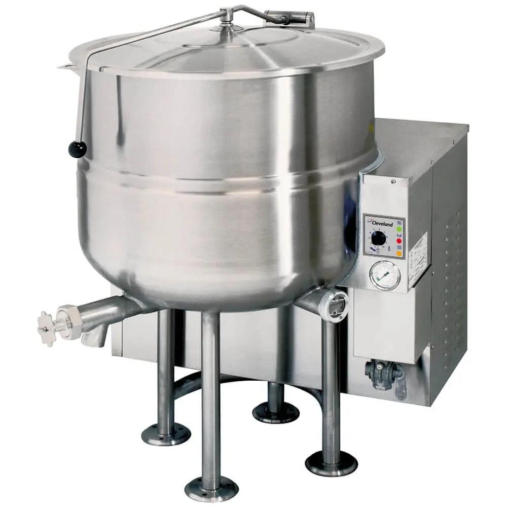 medium volume stationary commercial kitchen steam kettle