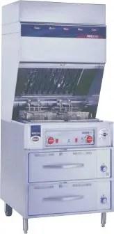 space saving ventless restaurant kitchen deep fat fryer with warming drawers