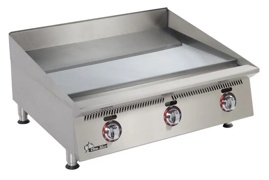small commercial counter top griddle