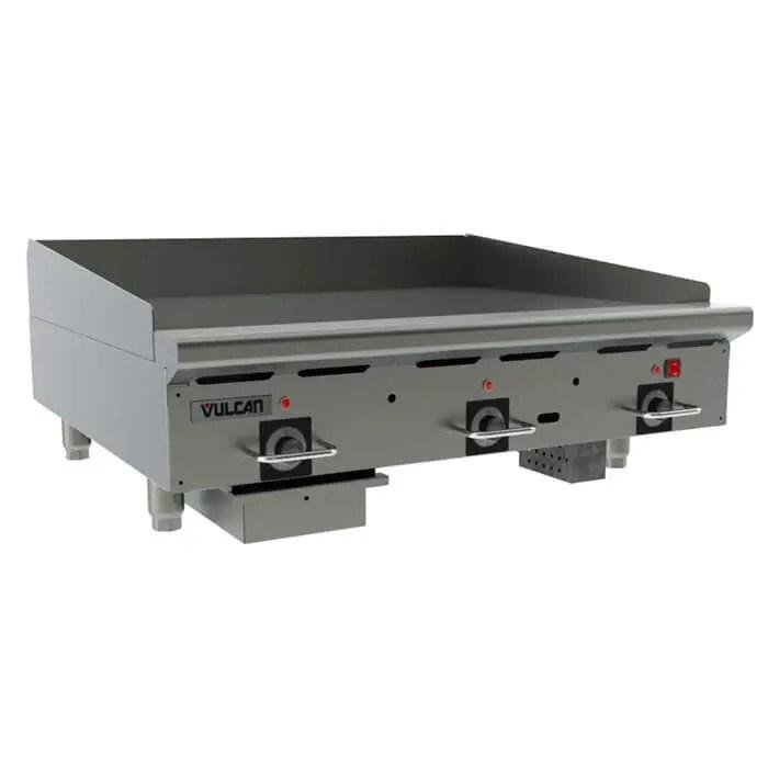 heavy duty countertop three burner restaurant kitchen griddle