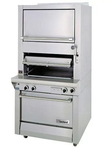 heavy duty commercial over fired restaurant kitchen charbroiler