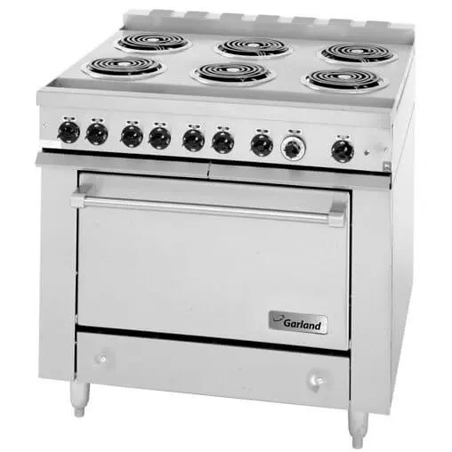 heavy duty commercial electric six burner restaurant kitchen range