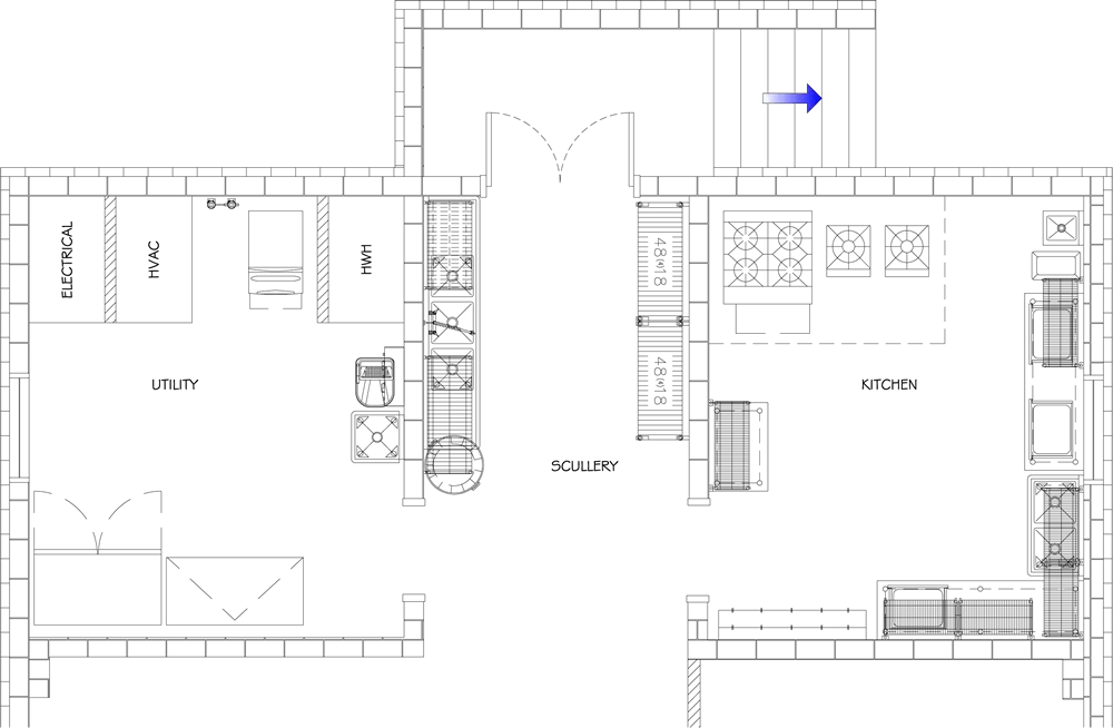 Hare Krishna Temple Project commercial kitchen design floorplan