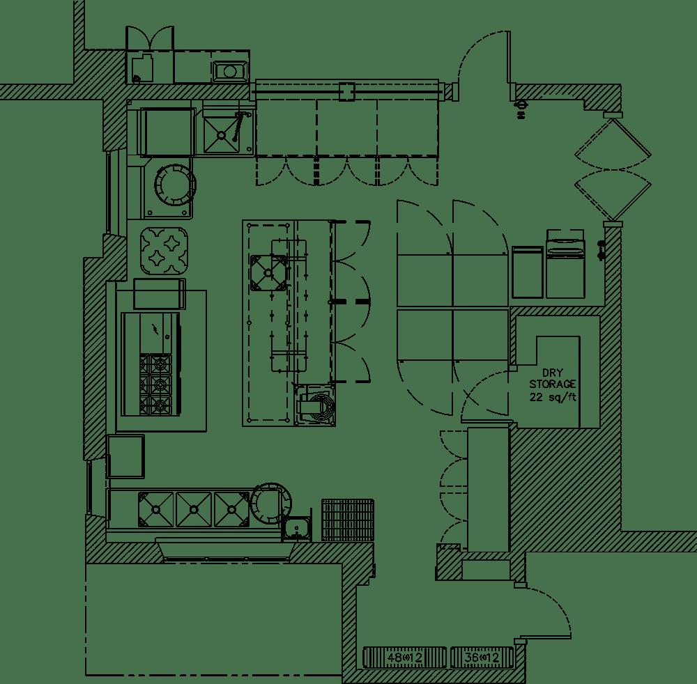 St Marys Church Project commercial kitchen design floorplan