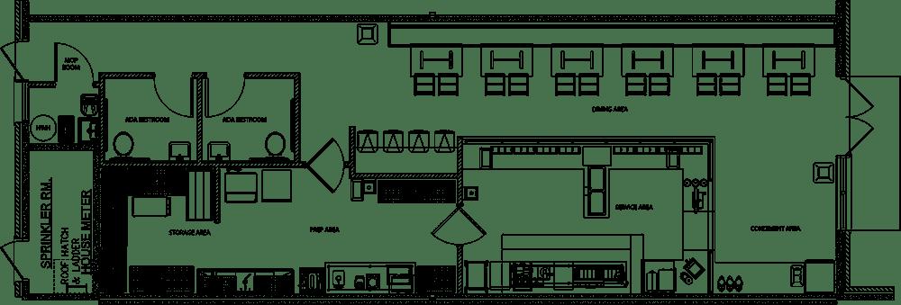 The Donut Experiment Project restaurant kitchen design floorplan