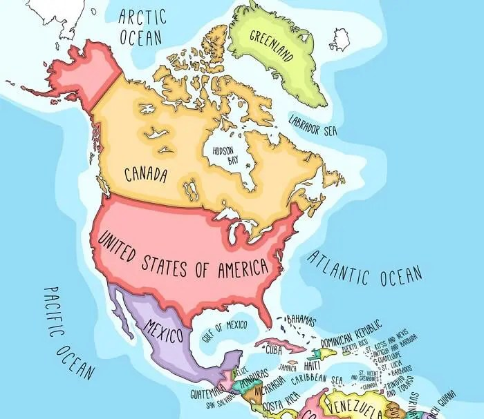 North American map showing our delivery and installation service areas