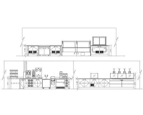 commercial kitchen design development equipment elevation rendering