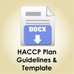 HACCP Plan Guidelines and Template Download icon