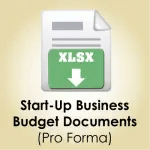 Start Up Business Budget Documents Download icon